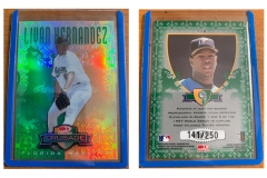 1998-leaf-rookies-and-stars-crusade-update-green-113-livan-hernandez