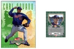 1998-leaf-rookies-and-stars-crusade-update-green-121-carl-pavano