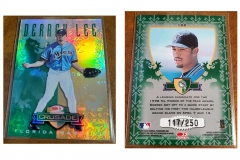1998-leaf-rookies-and-stars-crusade-update-green-122-derrek-lee