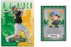 1998-leaf-rookies-and-stars-crusade-update-green-123-aj-hinch