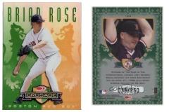 1998-leaf-rookies-and-stars-crusade-update-green-124-brian-rose