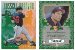 1998-leaf-rookies-and-stars-crusade-update-green-129-russell-branyan