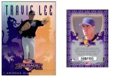 1998-leaf-rookies-and-stars-crusade-update-purple-105-travis-lee