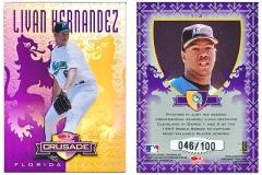 1998-leaf-rookies-and-stars-crusade-update-purple-113-livan-hernandez