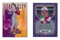 1998-leaf-rookies-and-stars-crusade-update-purple-128-sean-casey
