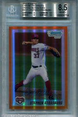 2010-bowman-chrome-prospects-orange-refractor-bcp1-stephen-strasburg-bgs85
