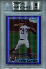 2010-bowman-chrome-prospects-purple-refractor-bcp1-stephen-strasburg-bgs9
