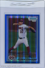 2010-bowman-chrome-prospects-blue-refractor-bcp1-stephen-strasburg