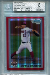 2010-bowman-chrome-prospects-red-refractor-bcp1-stephen-strasburg-bgs8