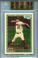 2010-bowman-chrome-prospects-superfractor-bcp1-stephen-strasburg-bgs95