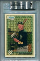 2010-bowman-chrome-prospects-superfractor-bcp61-josh-donaldson-bgs9