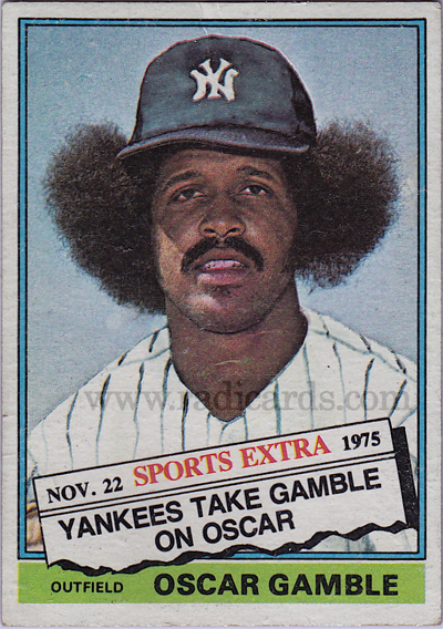 Oscar Gamble 1976 Topps Traded #74T