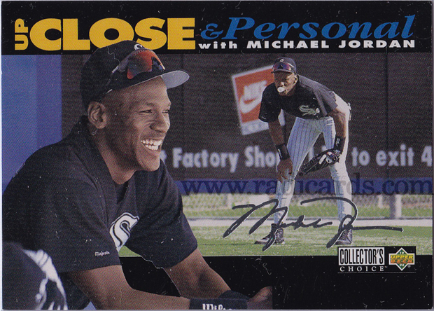 Michael Jordan 1994 Collector's Choice #635 Black Error