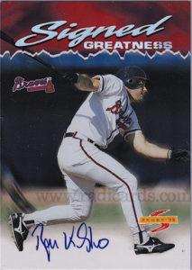 Ryan Klesko 1995 Score #SG1 /6100