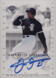 1996 Leaf Signature Extended Autographs #199 Blue Ink