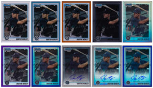 Dustin Ackley 2010 Bowman Prospects & Chrome Prospects