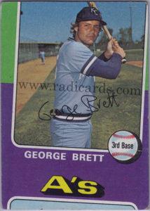 George Brett 1975 Topps #228 Miscut