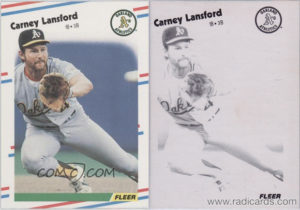 Carney Lansford 1988 Fleer #285 Error