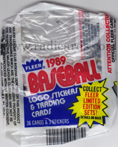 1989 Fleer Cello Wrapper