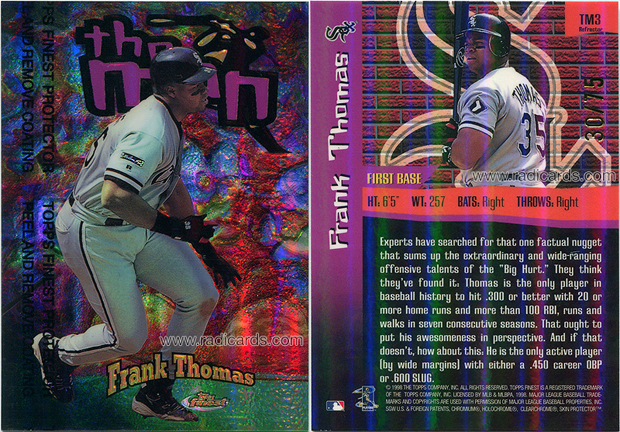 Frank Thomas 1998 Finest The Man #TM3 Refractor /75