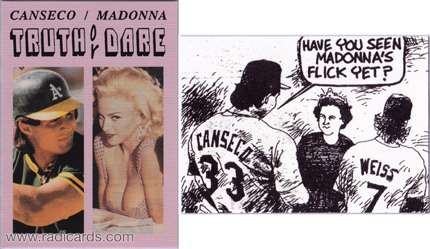 Unlicensed Card featuring Jose Canseco & Madonna