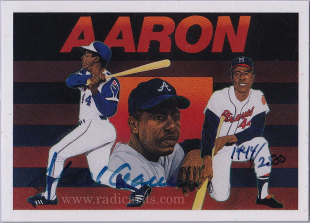 1991 Upper Deck Hank Aaron Au2500 And Hope The Radicards Blog