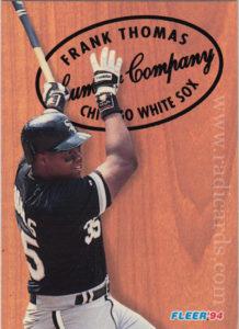 Frank Thomas 1994 Fleer Lumber Company #9