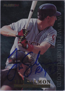 Tim Salmon 1994 Fleer Salmon #11 AU /2000