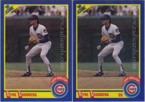 Ryne Sandberg 1990 Score #561 Variation Comparison