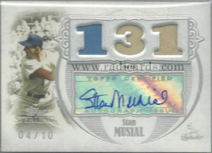 Stan Musial 2007 Topps Sterling Career Stats Relics Autographs #2CSA77 /10
