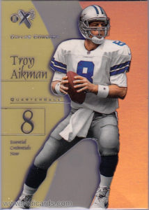 Troy Aikman 1998 E-X2001 #15 Essential Credentials Now /15