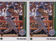 Pat Sheridan 1989 Upper Deck 652 Variation Comparison The