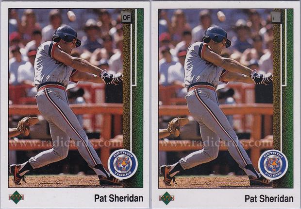 Pat Sheridan 1989 Upper Deck #652 Variation Comparison