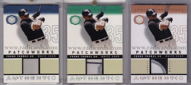 Frank Thomas 2003 Fleer Patchworks Game Word Patch