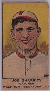 Joe Gharrity 1919-21 (W514) #109