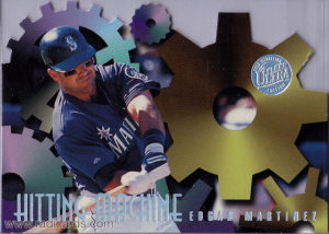 Edgar Martinez 1996 Ultra Hitting Machines #5 Gold Medallion