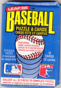 1986 Leaf Baseball Pack