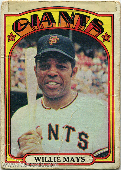 Willie Mays 1972 Topps 49 The Radicards Blog