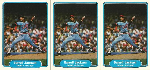 Darrell Jackson 1982 Fleer #555 Variations