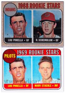 Lou Piniella 1968 and 1969 Topps