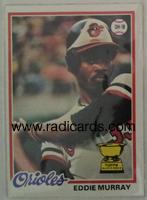 Eddie Murray 1978 Topps #38