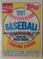 1981 Topps Coke Red Sox Header