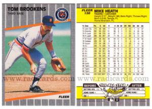 Tom Brookens 1989 Fleer #130A