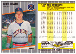 Mike Heath 1989 Fleer #132A