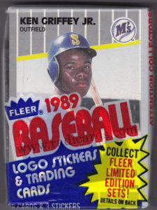 1989 Fleer Baseball Cello Griffey Showing on Front
