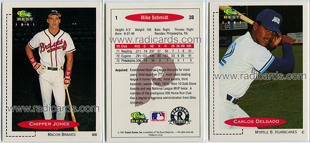 1991 Classic Best Baseball Cards