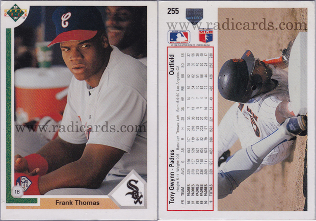 Frank Thomas 1991 Upper Deck 246 Error The Radicards Blog