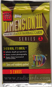 1995 Topps D3 Baseball Series 1 Pack