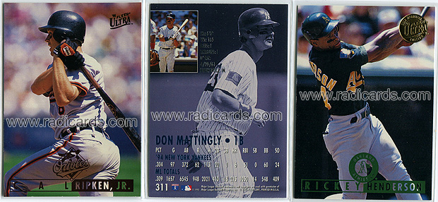 1995 Ultra Baseball Baseball Cards