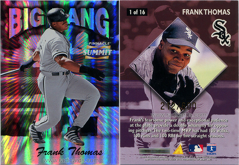 Frank Thomas 1996 Summit Big Bang #1 /600